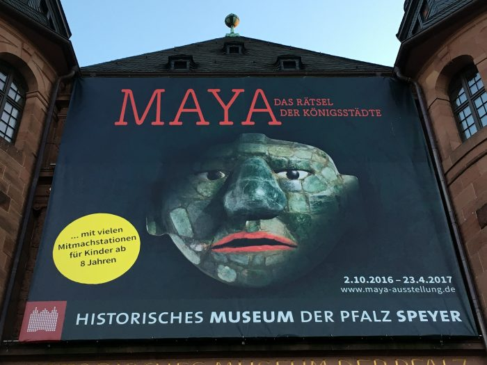 The big poster above the entrance to the Palatinate Historical Museum in Speyer