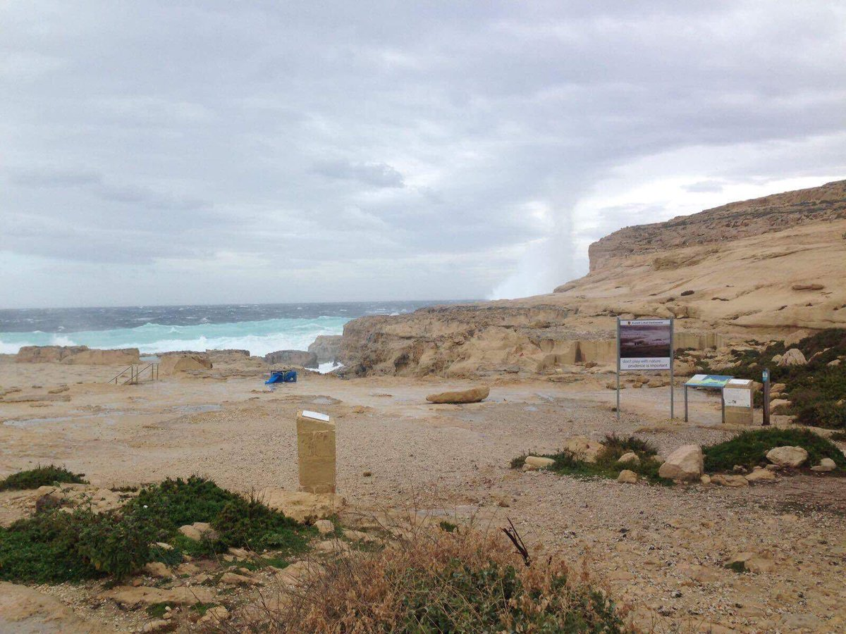 The visitor site of the Azure Window.