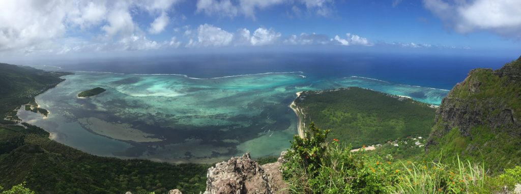 The view from Le Morne Brabant Cross