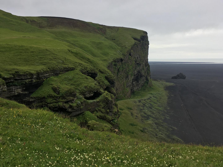 Hjörleifshöfði southern walls