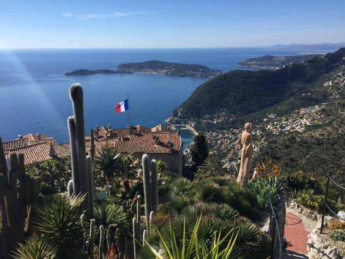 Èze, the exotic garden hill view