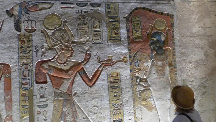 The Valley of The Kings, in the Ramses VI tomb corridors
