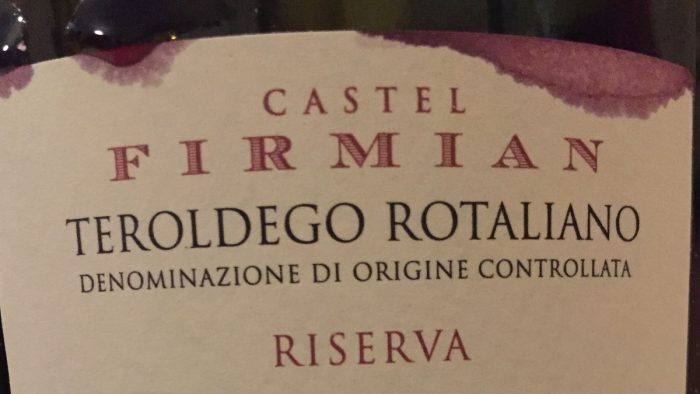 Teroldego Rotaliano Castel Firmian 2013